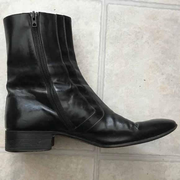 0b28889e861 Men's Vintage Gucci black leather zip side boots